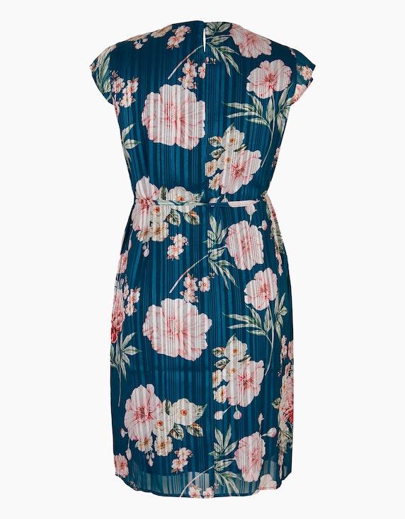 Bexleys woman Chiffonkleid mit Streifen und Blumen   ADLER Mode Onlineshop