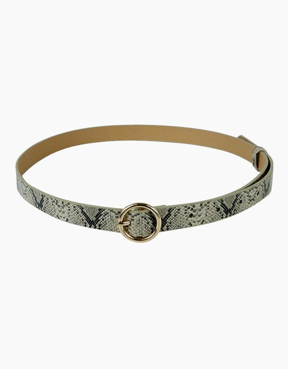 Adler Collection Schmaler Gürtel in Schlangenlederoptik | ADLER Mode Onlineshop