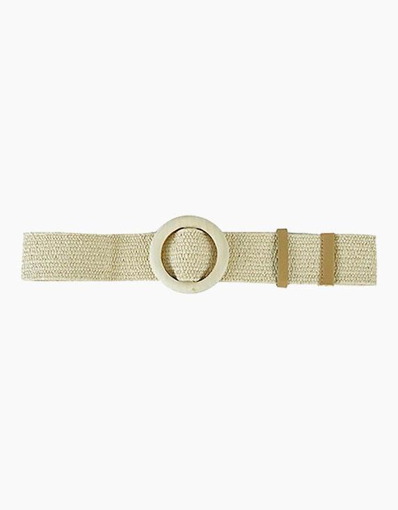 Adler Collection Elastischer Gürtel mit runder Schnalle | ADLER Mode Onlineshop