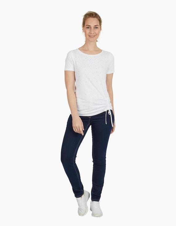 Viventy Shirt mit Ziersteinen und Raffung | ADLER Mode Onlineshop