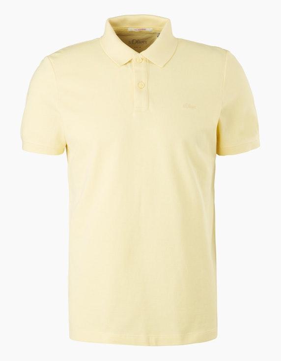 s.Oliver Poloshirt aus Baumwollpiqué   ADLER Mode Onlineshop