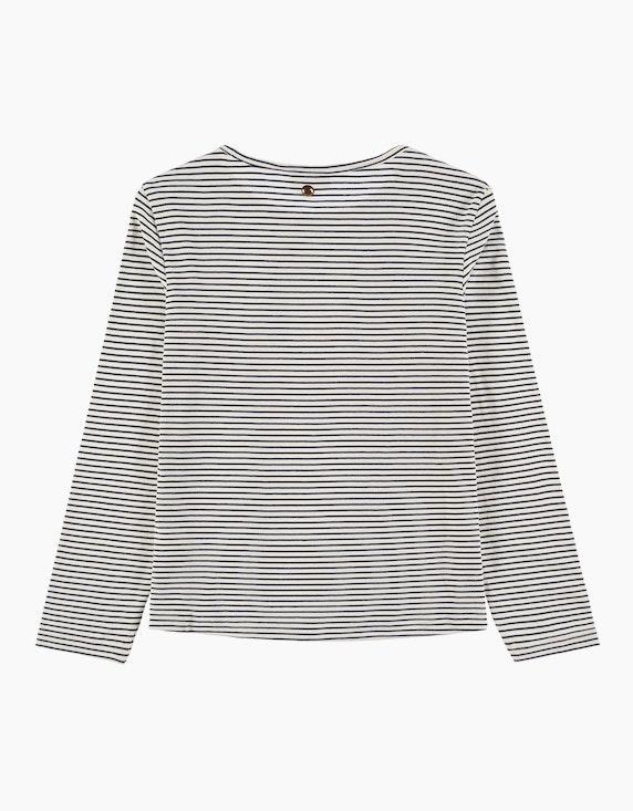 Tom Tailor Girls Langarmshirt mit Streifen und Wording | ADLER Mode Onlineshop