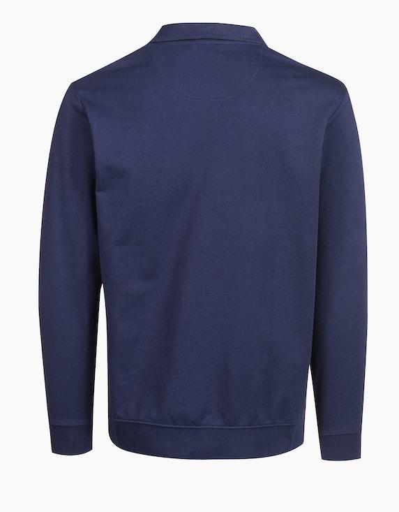 Bexleys man Polo-Sweatshirt unifarben   ADLER Mode Onlineshop