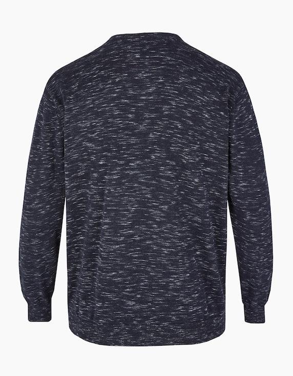 Big Fashion Pullover mit Melange-Effekt und Streifen   ADLER Mode Onlineshop
