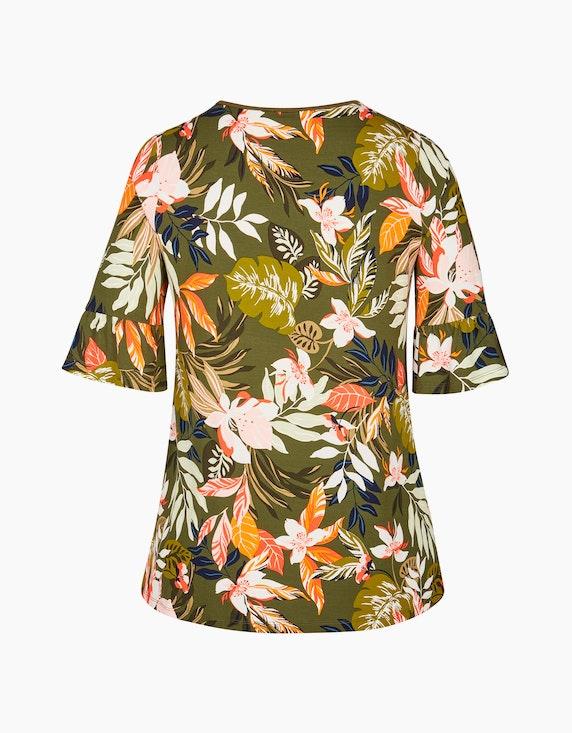 VIA APPIA DUE Tropical Shirt mit Volantärmeln | ADLER Mode Onlineshop