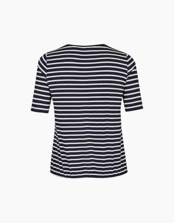 VIA APPIA DUE Shirt Streifen und Gummizug | ADLER Mode Onlineshop