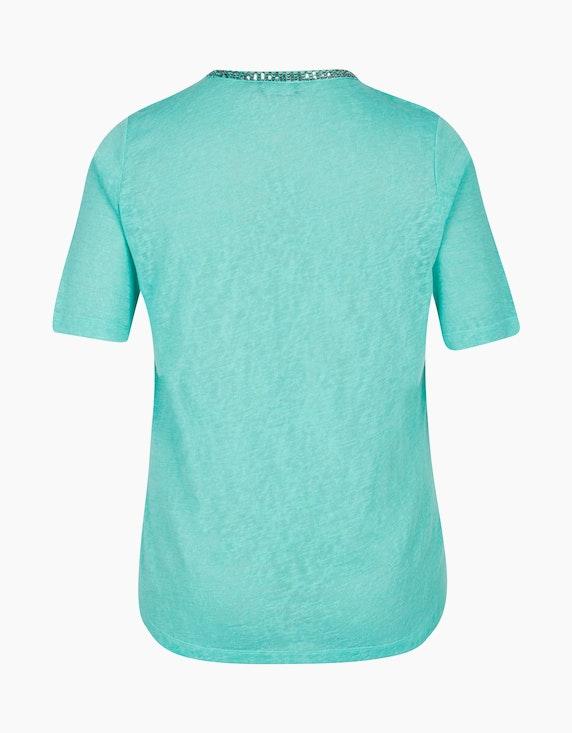 VIA APPIA DUE T-Shirt mit Schmuckelement am Ausschnitt | ADLER Mode Onlineshop