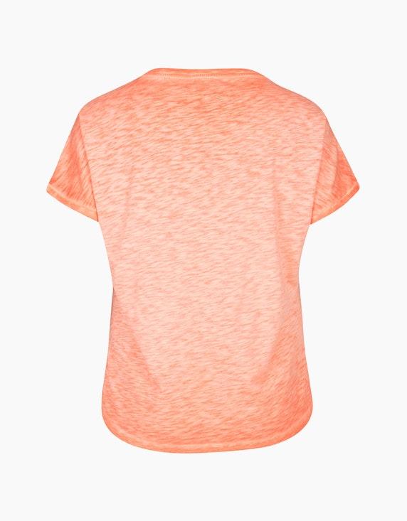 VIA APPIA DUE Meliertes T-Shirt mit Pailletten-Palmendruck | ADLER Mode Onlineshop