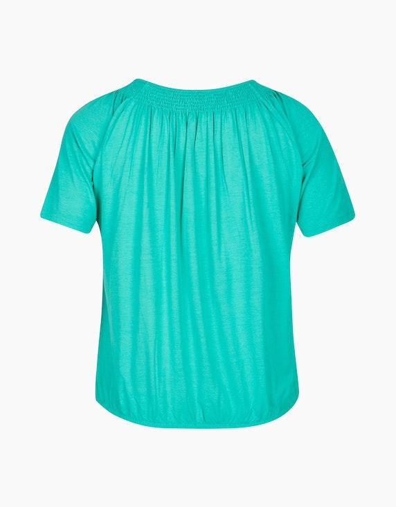 VIA APPIA DUE Unifarbenes Shirt mit Gummizug | ADLER Mode Onlineshop