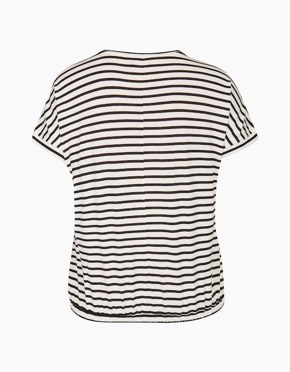 VIA APPIA DUE Streifenshirt mit Knotendetail und Gummibund | ADLER Mode Onlineshop
