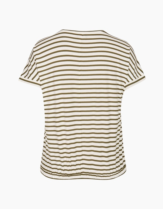 VIA APPIA DUE Streifenshirt mit Knotendetail | ADLER Mode Onlineshop