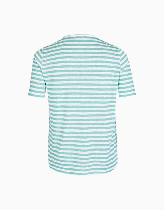 VIA APPIA DUE Streifenshirt mit glitzerndem Schriftzug | ADLER Mode Onlineshop
