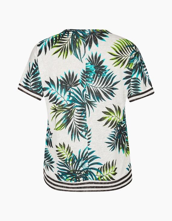 VIA APPIA DUE T-Shirt mit Palmenprint und Streifendetails | ADLER Mode Onlineshop