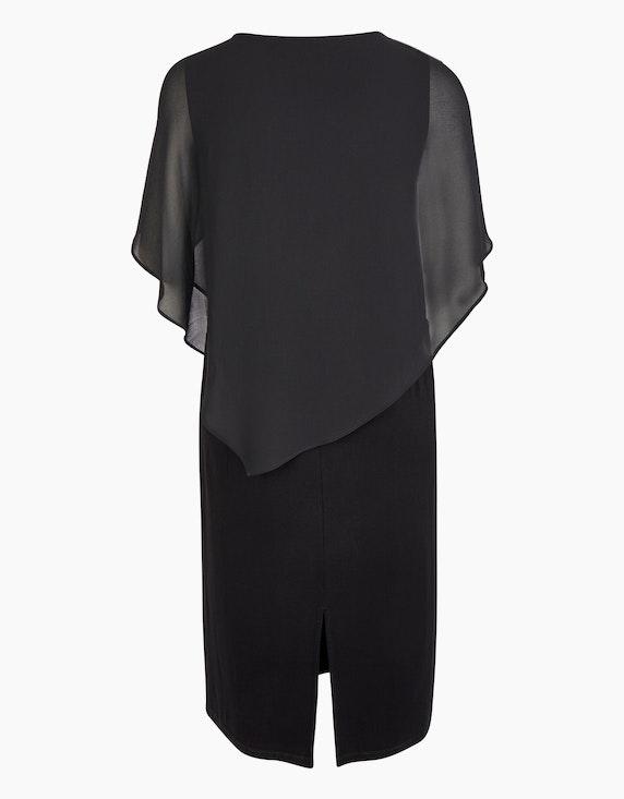 VIA APPIA DUE Etuikleid mit Chiffon-Cape und bedeckten Schultern | ADLER Mode Onlineshop