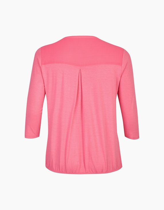 VIA APPIA DUE Unifarbene Shirtbluse mit Gummizug | ADLER Mode Onlineshop