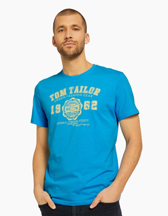 Tom Tailor T-Shirt mit Logo-Print | ADLER Mode Onlineshop