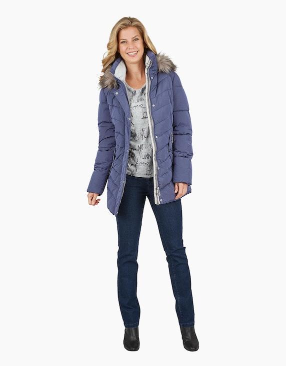 Bexleys woman Steppjacke mit Kapuze und Webpelz   ADLER Mode Onlineshop