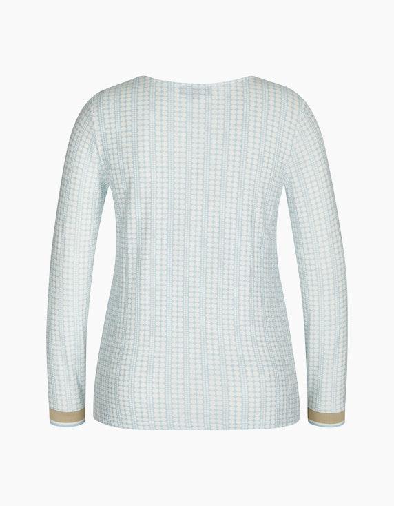 Bexleys woman Langarmshirt mit gestreiften Bündchen | ADLER Mode Onlineshop