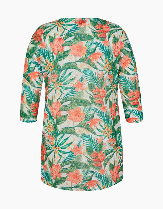 Bexleys woman Strickjacke in floralem Design | ADLER Mode Onlineshop