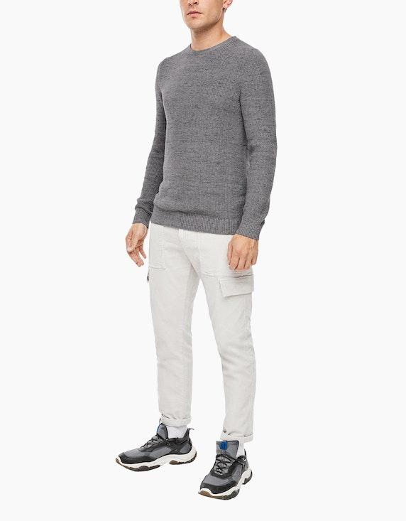 s.Oliver Melierter Baumwoll-Pullover | ADLER Mode Onlineshop