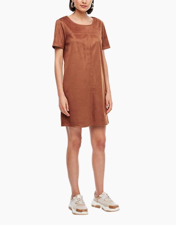 s.Oliver kurzes Kleid in Velourleder-Optik   ADLER Mode Onlineshop