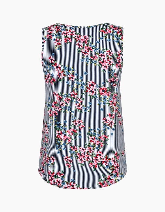 Bexleys woman Blusentop mit Streifen und Blumen | ADLER Mode Onlineshop