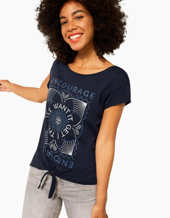 Street One T-Shirt mit Knoten Detail   ADLER Mode Onlineshop