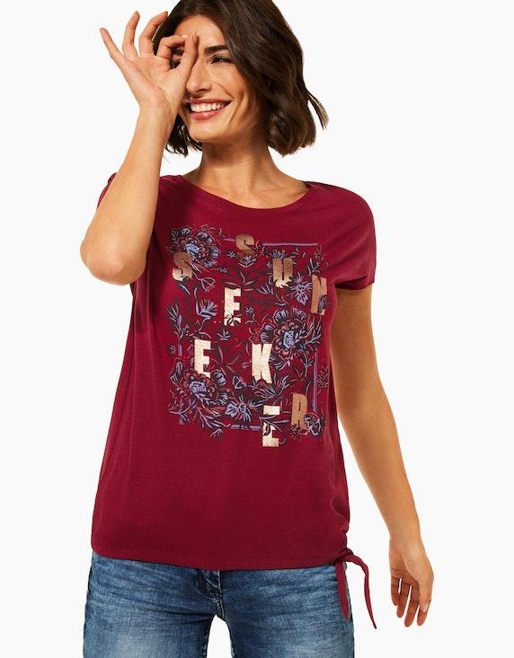 CECIL Shirt mit Frontprint und Knoten-Detail | ADLER Mode Onlineshop