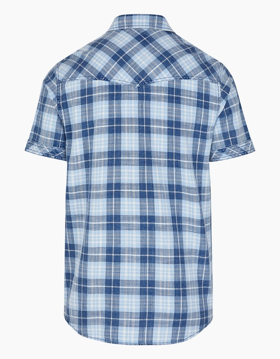 Eagle Denim Karo-Hemd im Jeans-Look   ADLER Mode Onlineshop
