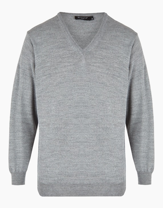 Bexleys man Feinstrickpullover aus Merino-Mischung in Grau   ADLER Mode Onlineshop