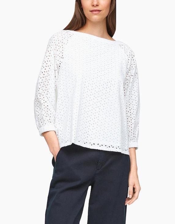 s.Oliver Spitzen-Bluse aus reiner Baumwolle   ADLER Mode Onlineshop