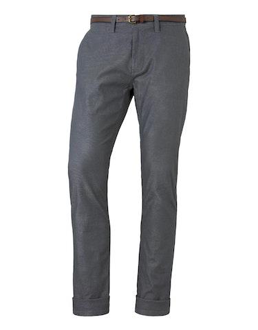 tom tailor - Strukturierte Travis Slim Chino Hose mit Gürtel, 32-34