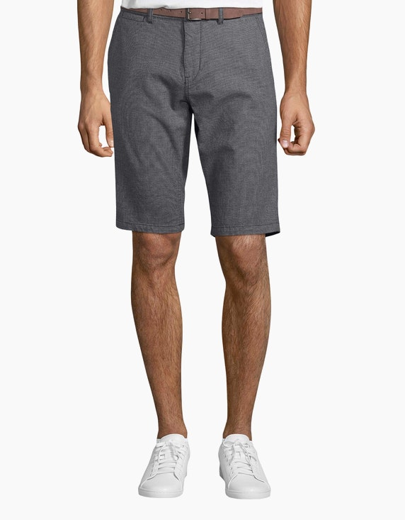 Tom Tailor Strukturierte Josh Chino Shorts mit Gürtel | ADLER Mode Onlineshop