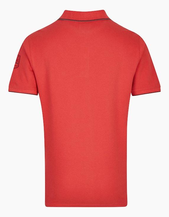 Bexleys man Poloshirt mit Stickerei und Druck | ADLER Mode Onlineshop