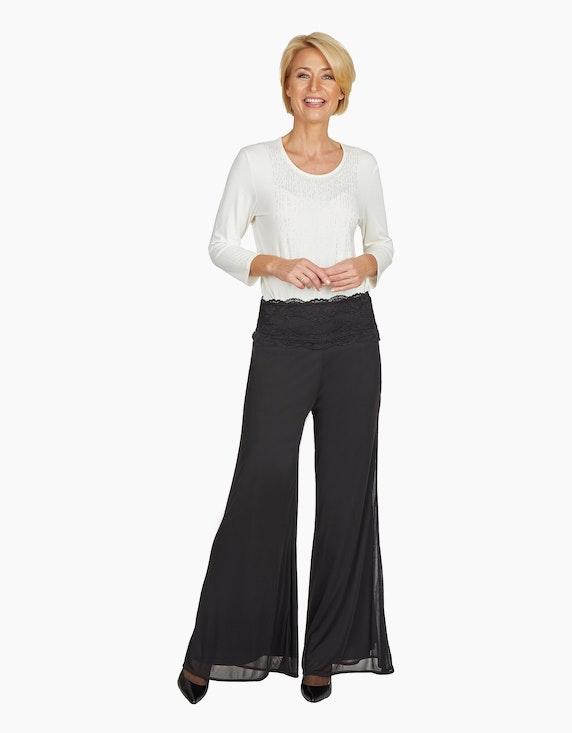 Steilmann Woman Palazzohose mit Spitzenbund   ADLER Mode Onlineshop