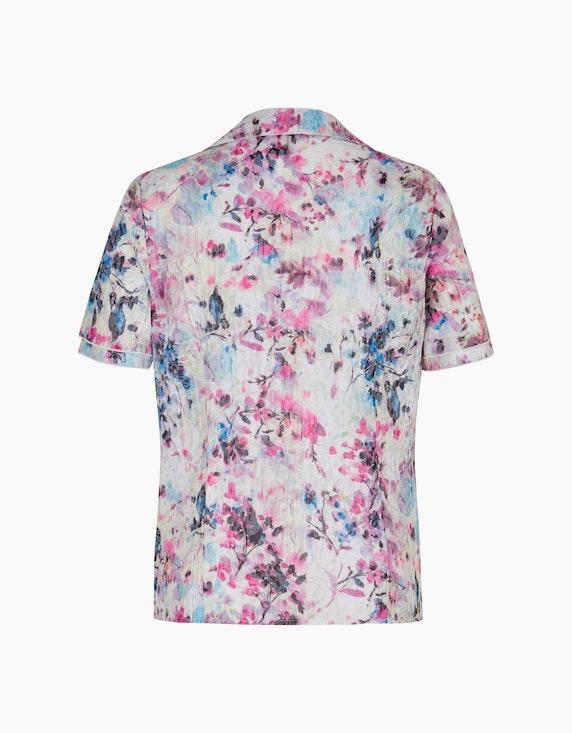 Bexleys woman Crinkle-Bluse mit Druck und Ausbrenner | ADLER Mode Onlineshop