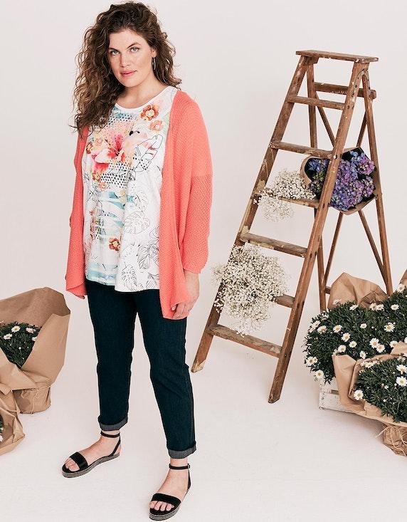 Thea T-Shirt mit Blumendruck und Glitzersteinen | ADLER Mode Onlineshop