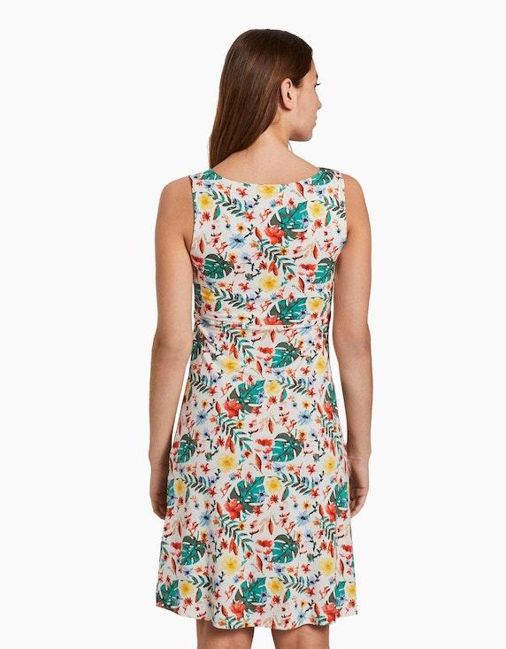 Tom Tailor Jersey-Kleid mit floralem Druck und V-Ausschnitt | ADLER Mode Onlineshop