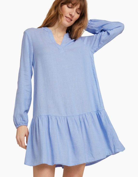 Tom Tailor Gestreiftes Tunika Kleid mit Leinen | ADLER Mode Onlineshop