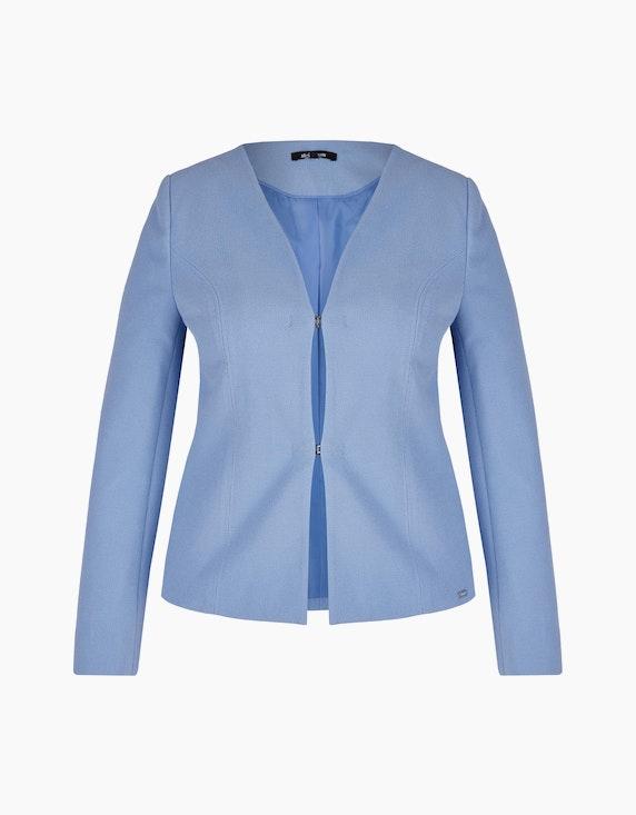 Steilmann Woman Piqué-Blazer mit Hakenverschlüssen in Hellblau | ADLER Mode Onlineshop