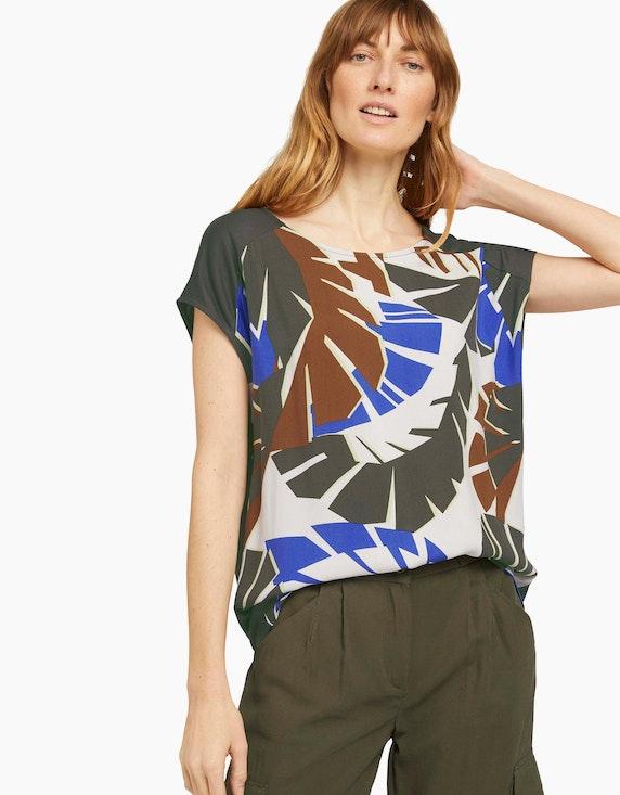 Tom Tailor Palmen T-Shirt mit Print | ADLER Mode Onlineshop