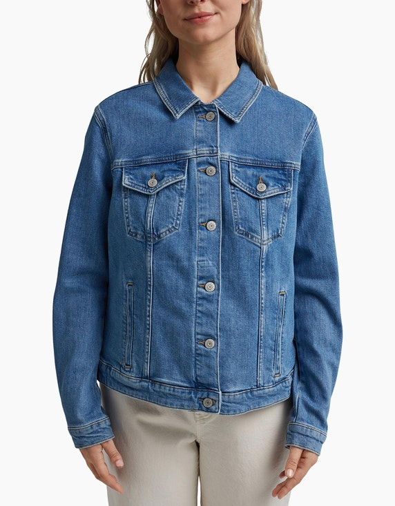 Esprit Oversized Jeansjacke aus Bio-Baumwolle CURVY | ADLER Mode Onlineshop