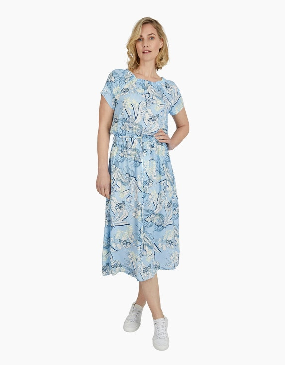 Steilmann Woman Mittellanges Kleid im Carmen-Stil | ADLER Mode Onlineshop