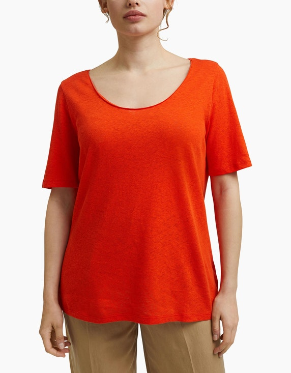 Esprit T-Shirt mit Leinen, CURVY   ADLER Mode Onlineshop