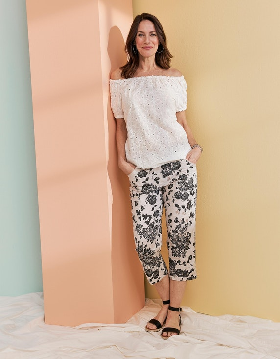 Bexleys woman Papertouch-Hose mit floralem Druck | ADLER Mode Onlineshop