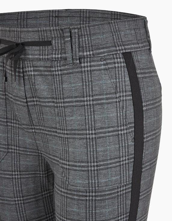 Bexleys woman Joggpants mit Glencheck-Muster und Galonstreifen   ADLER Mode Onlineshop