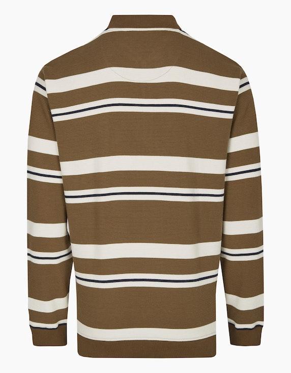 Bexleys man Polosweatshirt in Streifenstruktur | ADLER Mode Onlineshop