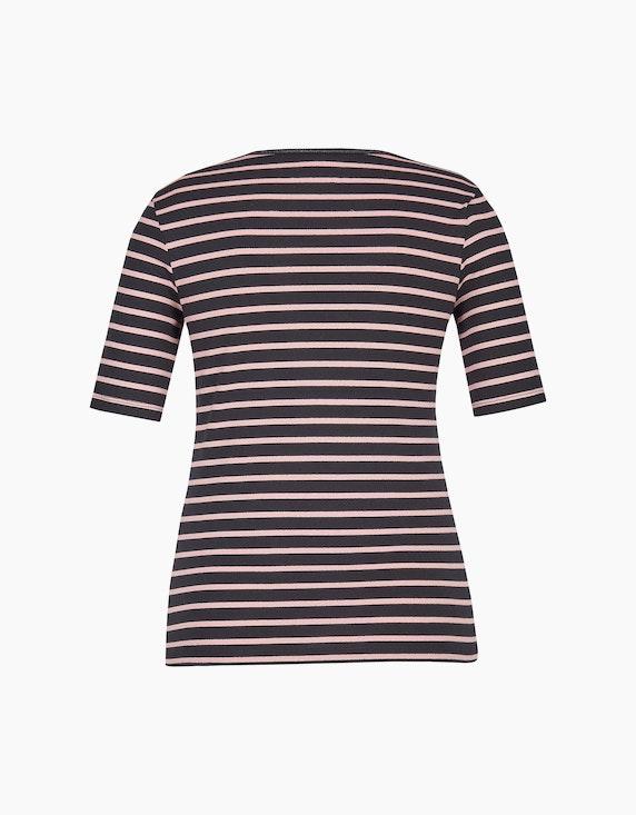 Bexleys woman T-Shirt mit Streifenmuster und halblangen Ärmeln | ADLER Mode Onlineshop