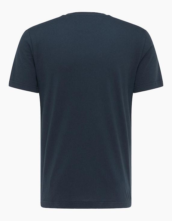 MUSTANG Basic T-Shirt mit Logo-Print | ADLER Mode Onlineshop