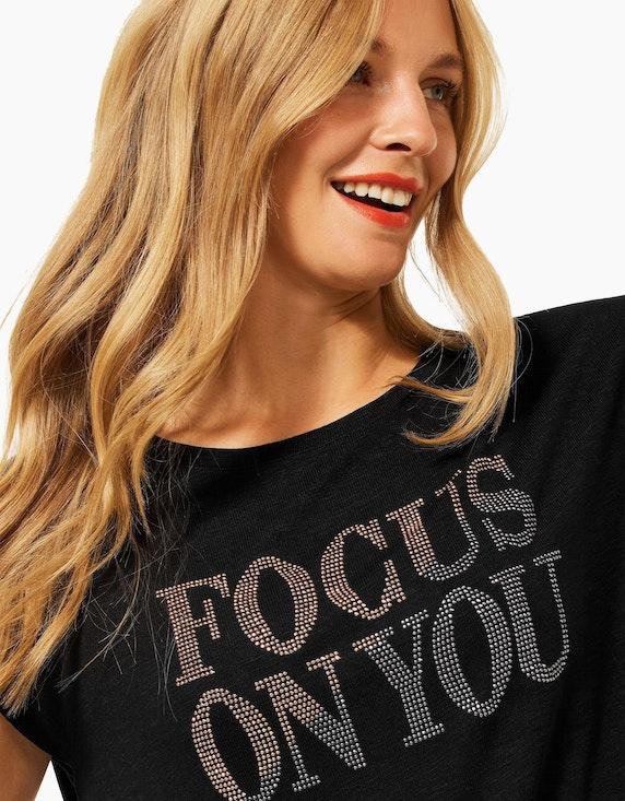 Street One Shirt mit Wording aus Ziersteinen   ADLER Mode Onlineshop